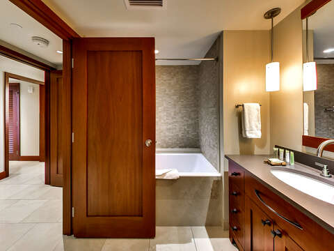 Bathroom with Large Soaking Tub.