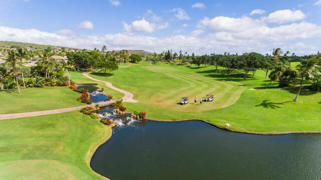The Ko Olina Golf Course with Waterfalls.