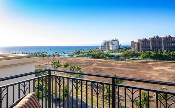 View from the Balcony of our Ko Olina Condo Rental Oahu.