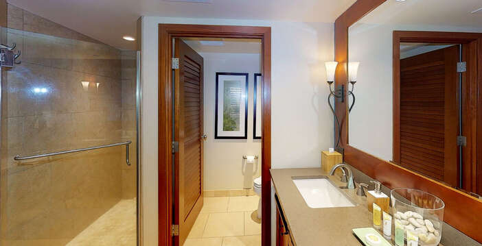 Walk-in Shower and Separate Water Closet in Master Bath