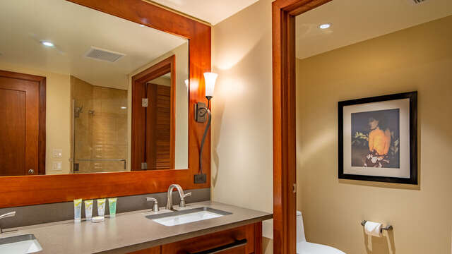 The Master Bathroom has Dual Sinks, a Deep Soaking Tub and Walk-in Shower