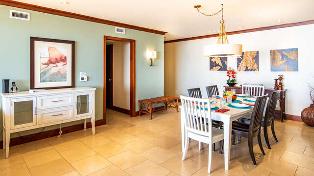 Alternate View of Dining Room inside our Ko Olina Condo Rental