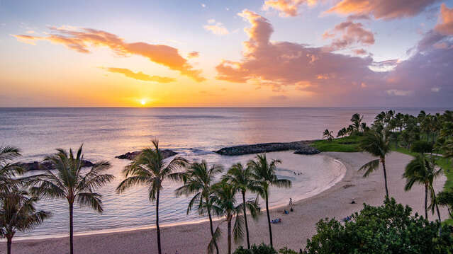 Gorgeous Sunsets from Your Lanai in our Ko Olina Condo Rental