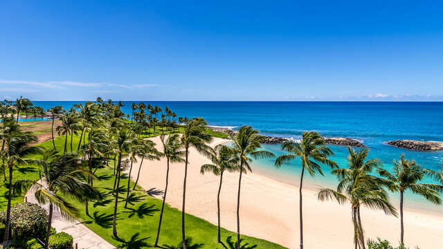 The Ko Olina Beach Villa View Looking to the East Toward Honolulu