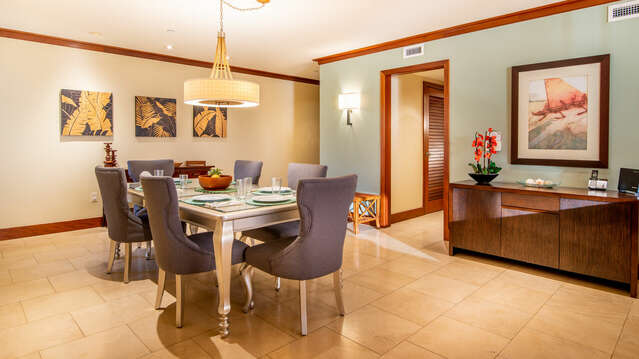 Spacious Dining Area with Seating for Six inside our Ko Olina Beach Villa