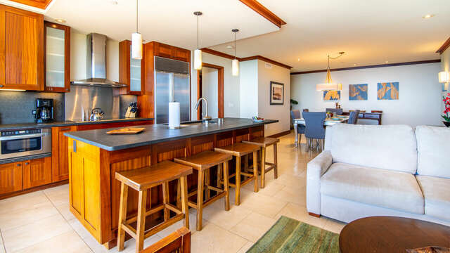 This Ko Olina Beach Villa's Fully Equipped Kitchen