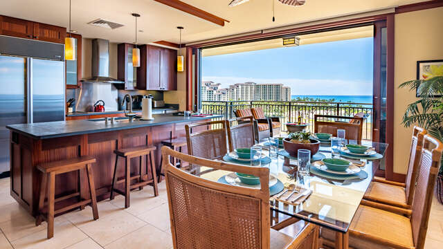 Kitchen and Dining Area inside the Beach Villas BT-901