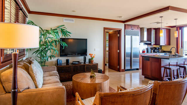 The Living Area with Comfortable Seating Inside Beach Villas BT-901