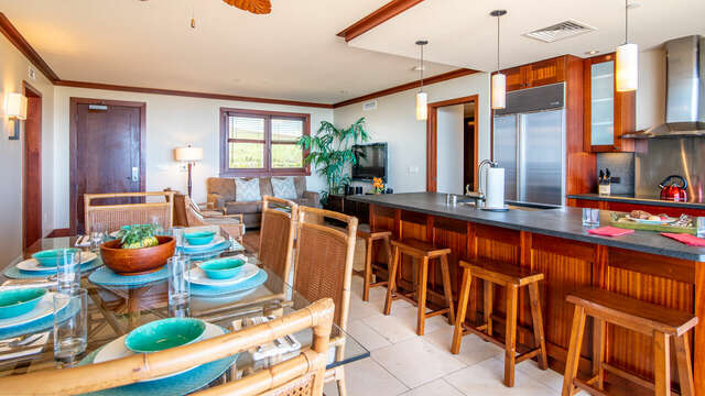 Kitchen and Dining Area inside your Ko Olina Beach Rental