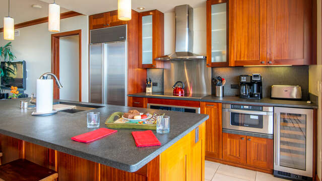 View of the Kitchen inside your Ko Olina Beach Rental