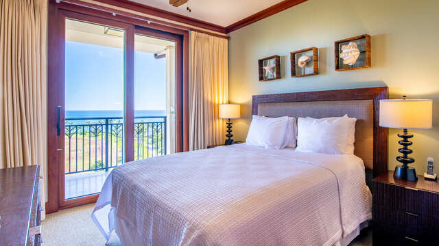 Second (Queen) Bedroom with Lanai Access In our Ko Olina Beach Rental