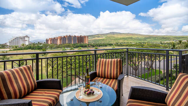 You also have a View of the Mountains from the Lanai when Staying at Beach Villas BT 608
