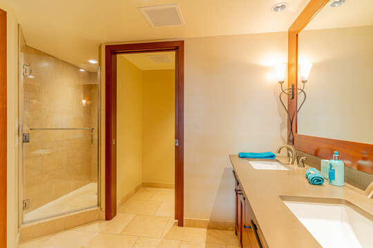 Master Bath also has a Large Walk-in Shower