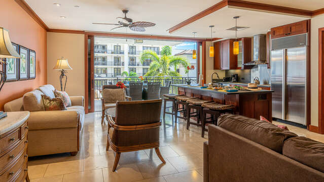 Open and Spacious Floor Plan Inside our Ko Olina Resort Vacation Rental