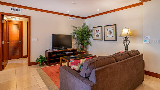 Second Living Area for Television Viewing