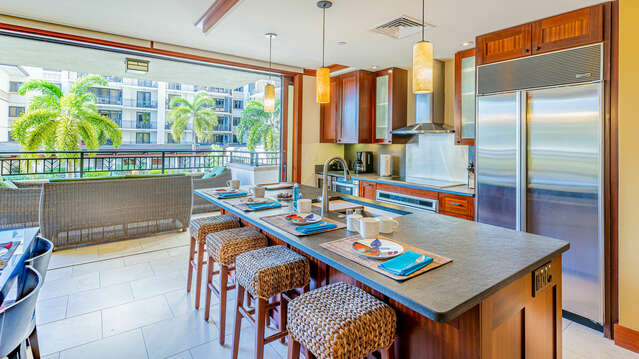 Roy Yamaguci Designed Kitchen in our Vacation Rental on Oahu