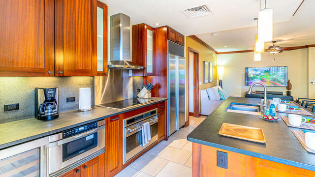 In this Picture You can See most of the Appliances in the Kitchen
