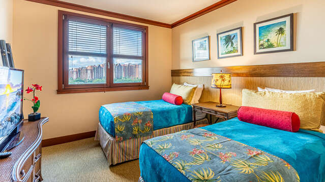 Twin Beds in the Second Bedroom can be converted to a King upon request.