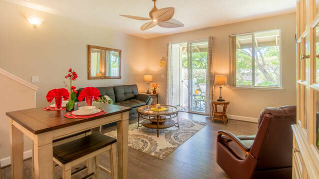 Open Living Space in Our Ko Olina Condo Rental in Oahu.