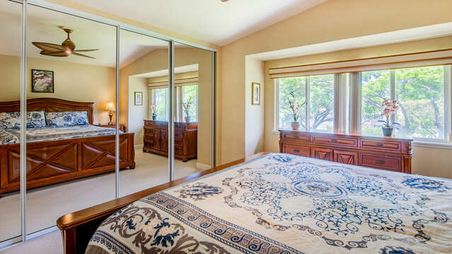 Large Mirror in Master Bedroom of Our Ko Olina Condo Rental in Oahu.