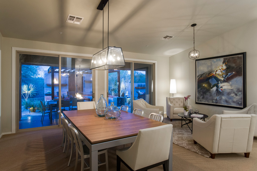 Large Sliding glass door to private yard