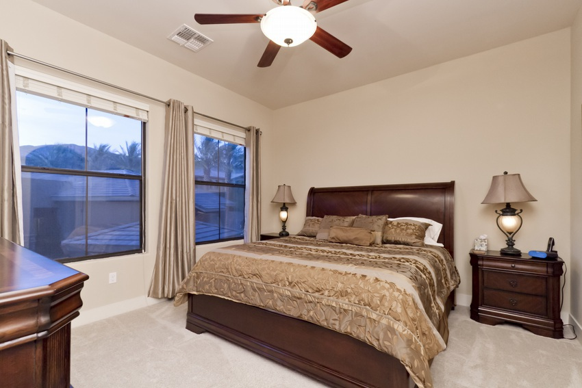 Large windows in master bedroom