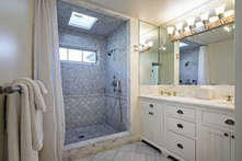 The master bath with it's large walk in shower.