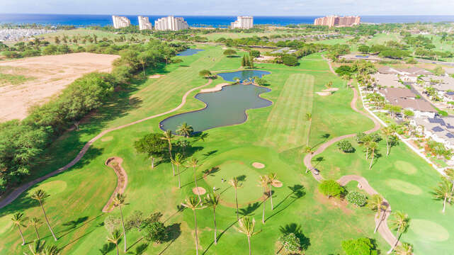 Aerial View of the Golf Course.