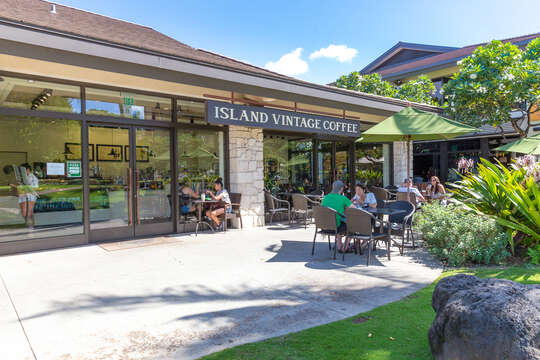 Island Vintage Coffee, located by the resort.