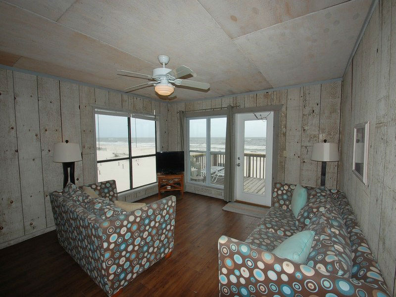 Living Room with Beach Front Views
