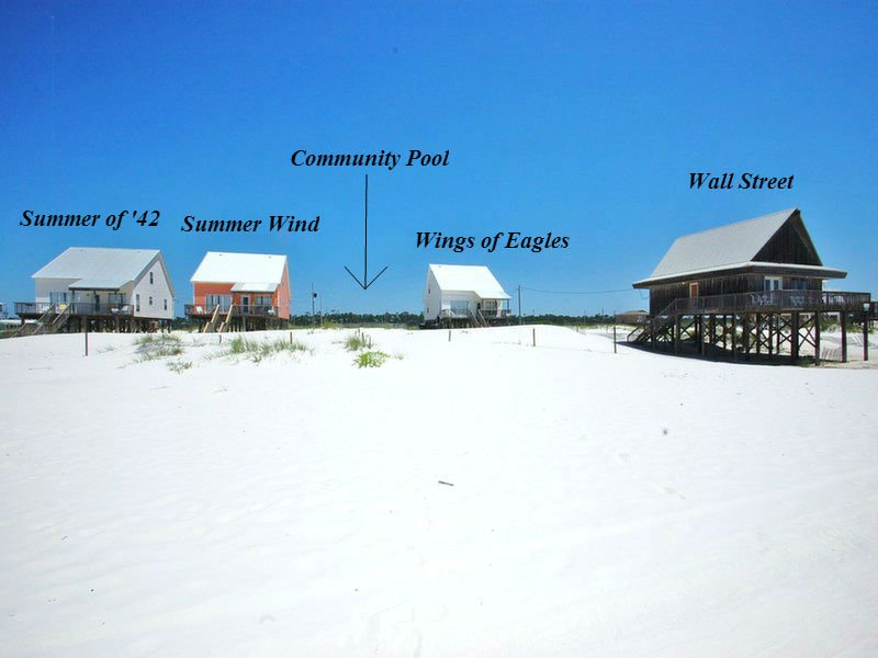 Harris Properties manages all of the pictured beachfront Gulf Shores rentals.