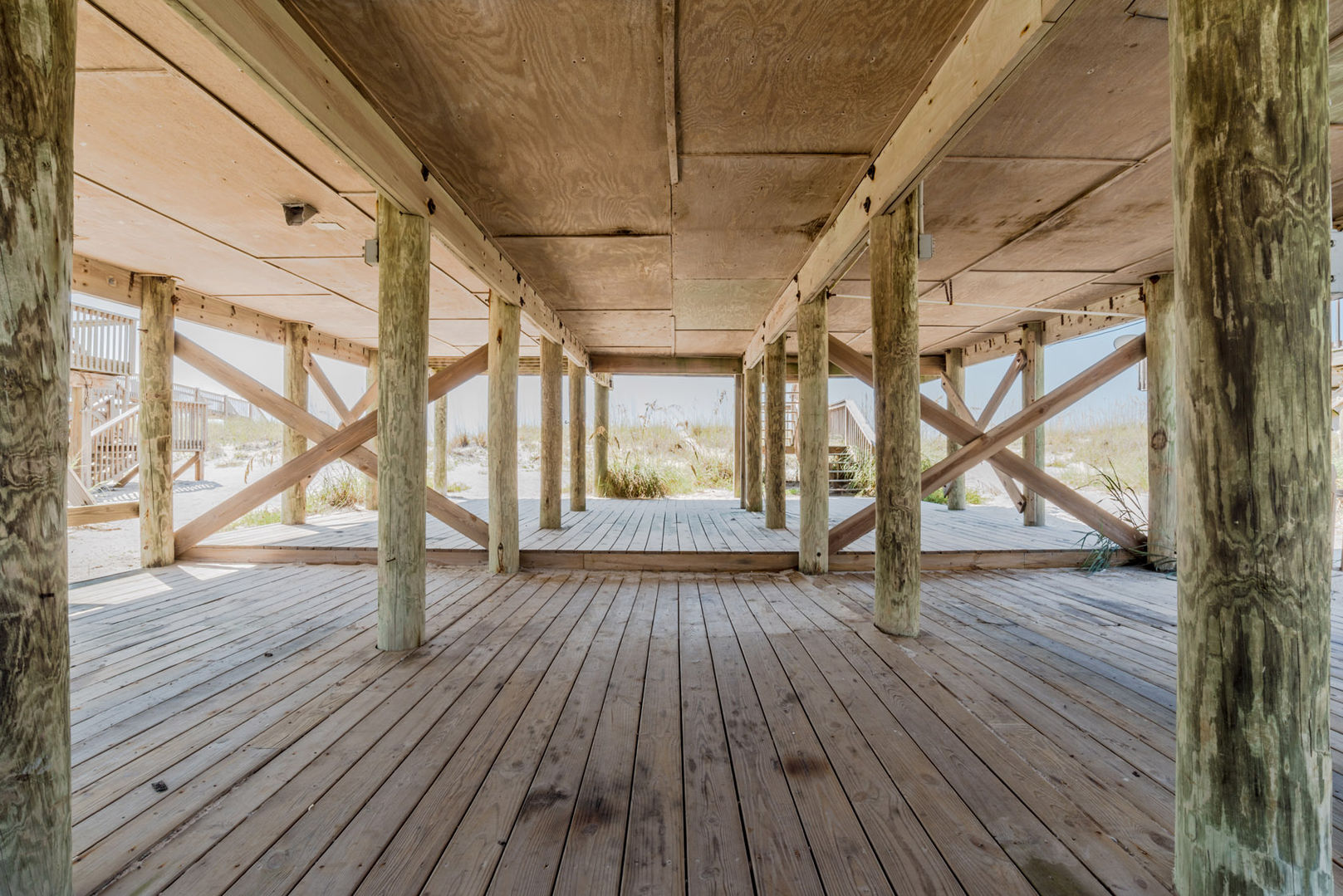 Covered Area Under our Beachfront Rental Gulf Shores.