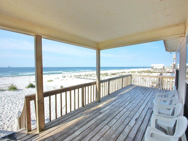 Great Beachfront Seating Area at our Fort Morgan Alabama Beach Rental