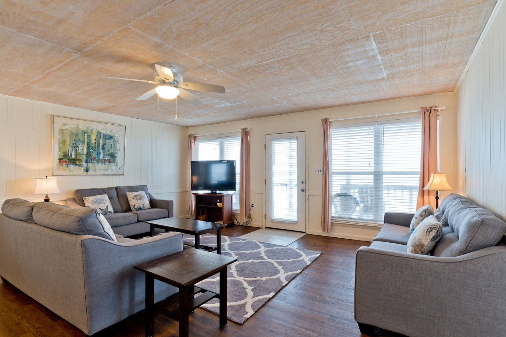 Large Beachfront Living Area in our Fort Morgan Alabama Beach Rental