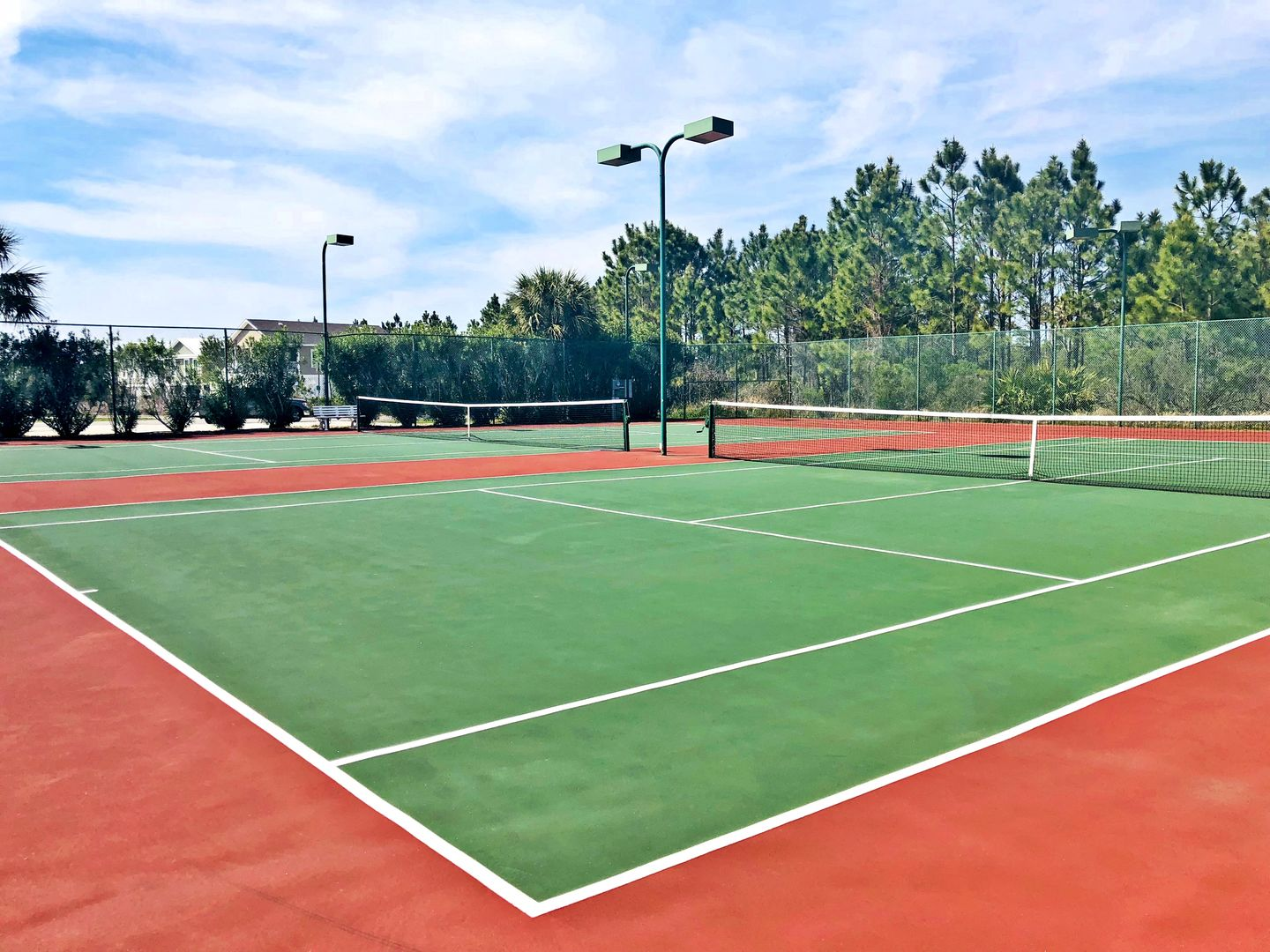 Guests Can access The Community Tennis Courts.
