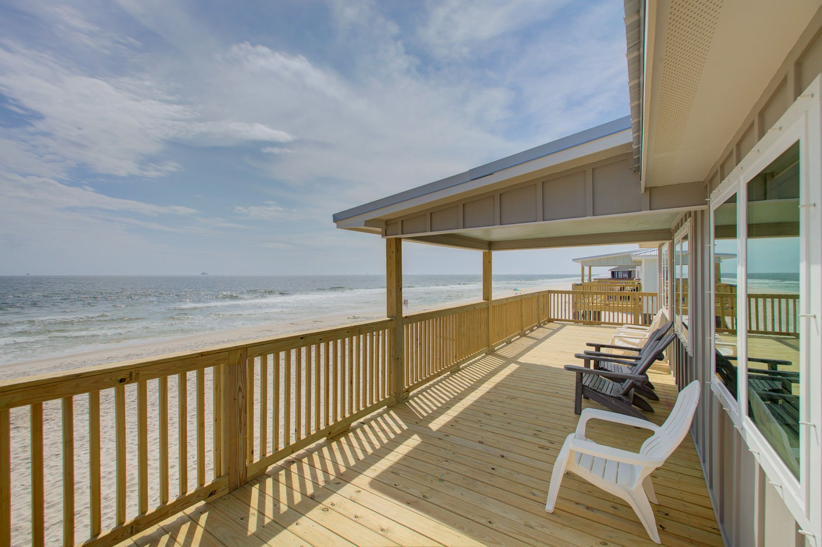 Beautiful Ocean Views from the deck of this beachfront Gulf Shores rental