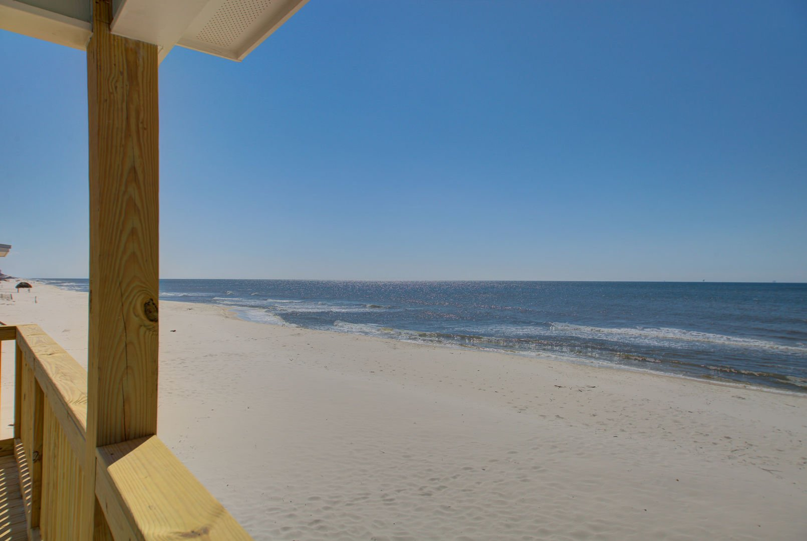 Beautiful gulf views from this Beach House Rental in Gulf Shores.