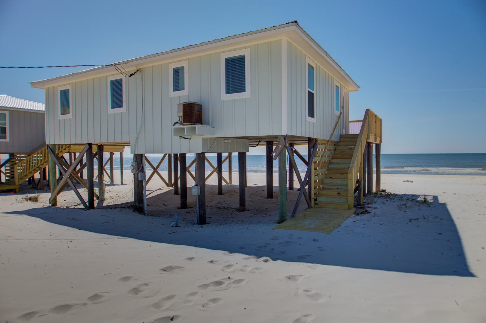 The exterior of this Beach House Rental in Gulf Shores.