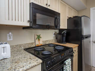 Kitchen updated with granite counter tops