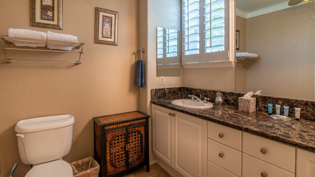Spacious Bathroom with Plenty of Counter Space.