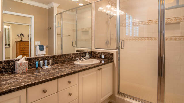 Master Bath with a Large Walk-in Shower