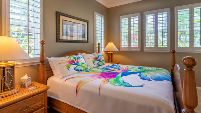 Large, Comfortable Master Bedroom in Our Rental In Ko Olina Oahu.