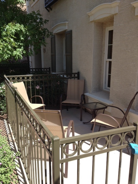 Newly added chairs and table for patio