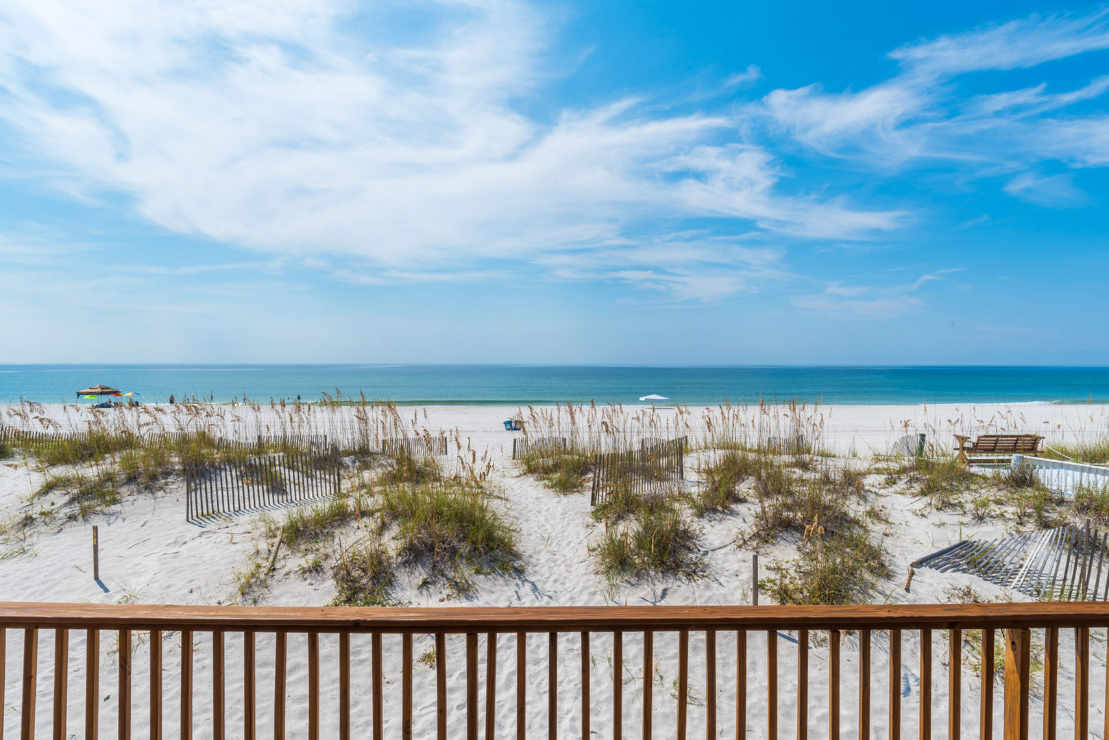 Enjoy stunning beach front views from the multi level beach front deck