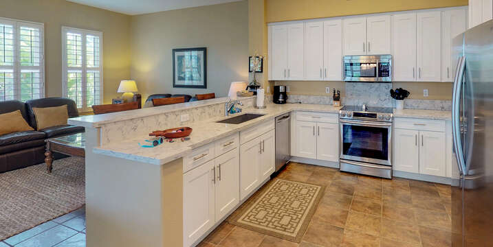 Spacious, Fully Equipped Kitchen Inside Our Ko Olina Condo.