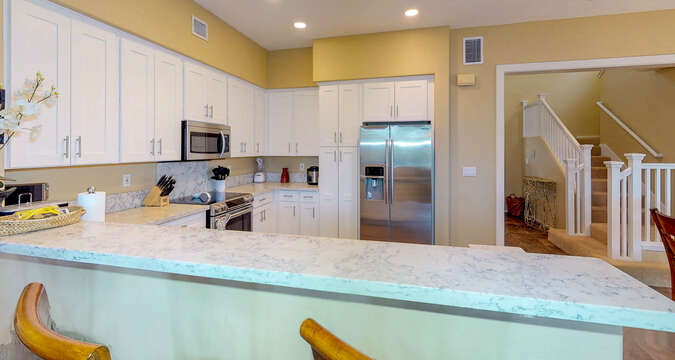 An Image of the Kitchen with Upgraded Appliances.
