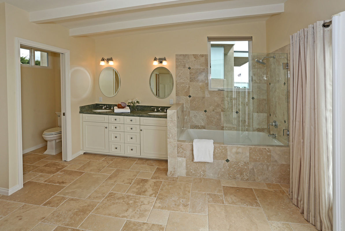 Master Bathroom shares the space