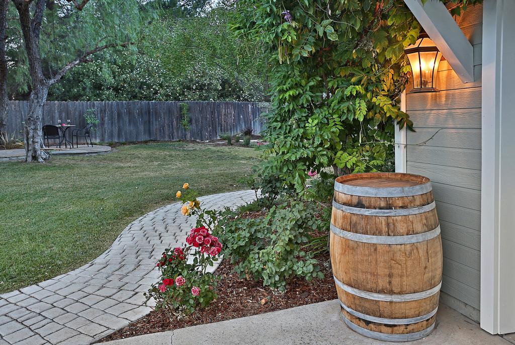 Whimsical wonderful Wine Barrel Cottage