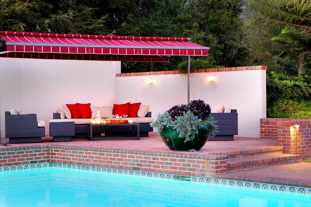 One of 2 outdoor Living Rooms