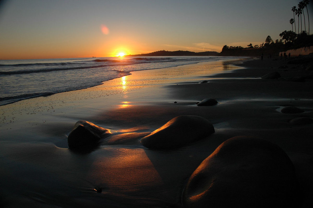 Sunsets at the local beaches are beautiful!